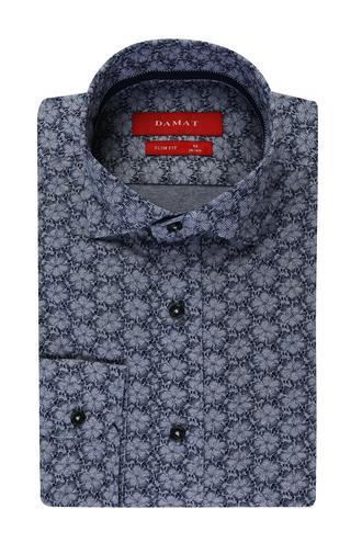 Damat Slim Fit Mavi Desenli Gömlek - 8681649523901 | Damat Tween