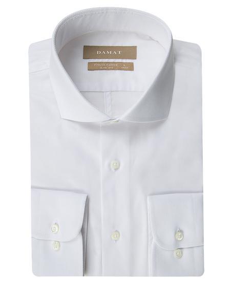 Damat Slim Fit Beyaz Desenli Gomlek - 8681649539193 | Damat Tween