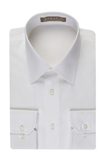 Damat Slim Fit Beyaz Düz Nano Care Gömlek - 8681649554233 | Damat Tween
