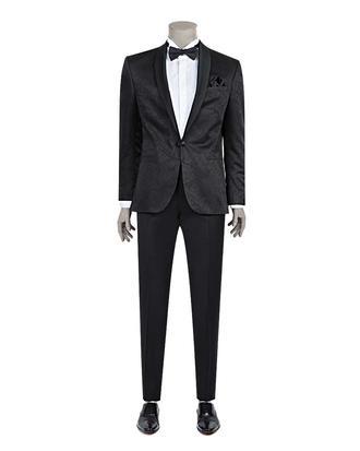 Damat Slim Fit Slim Fit Siyah Desenli Takım Elbıse - 8681649569060 | Damat Tween