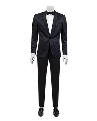 Damat Slim Fit Slim Fit Lacivert Desenli Takım Elbıse - 8681649569107 | Damat Tween