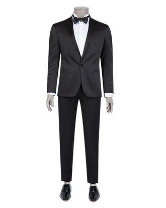Tween Slim Fit Slim Fit Siyah Desenli Takım Elbıse - 8681649569510   Damat Tween