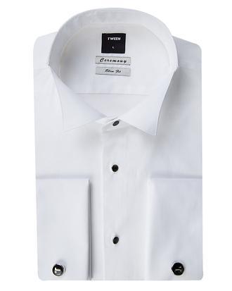 Tween Slim Fit Beyaz Desenli Gomlek - 8681649662914 | Damat Tween