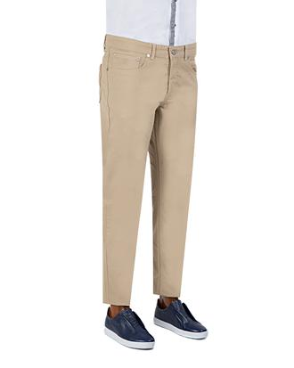 Damat Slim Fit Bej Dokulu Pantolon - 8681649672777   D'S Damat