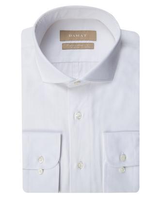 Damat Slim Fit Beyaz Desenli Gomlek - 8681649688655 | Damat Tween