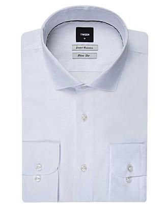 Tween Slim Fit Beyaz Desenli Gomlek - 8681649038498 | Damat Tween