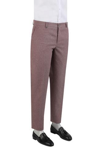 Tween Slim Fit Bordo Dokulu Pantolon - 8681649698050 | D'S Damat