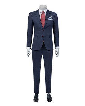 Tween Slim Fit Slim Fit Lacivert Desenli Takım Elbıse - 8681649698951   D'S Damat