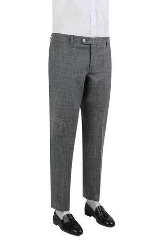 Damat Slim Fit Lacivert Desenli Pantolon - 8681649699835   D'S Damat