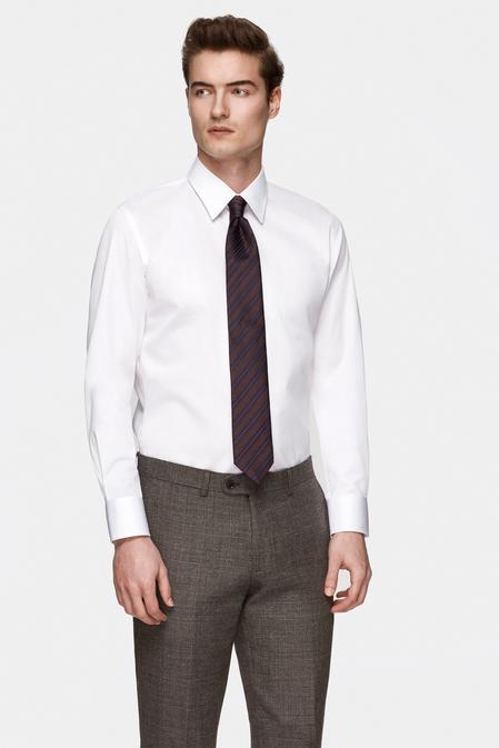 Damat Slim Fit Beyaz Düz Nano Care Gömlek - 8681649975786 | Damat Tween