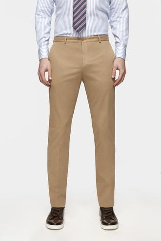 Damat Slim Fit Camel Pantolon - 8681649820840 | D'S Damat