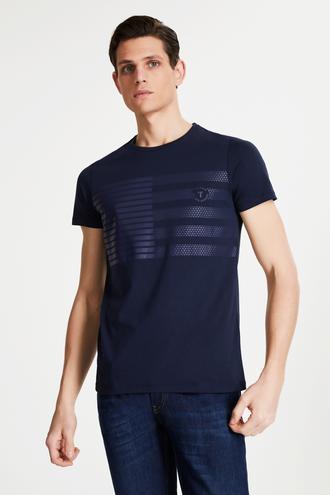 Tween Lacivert Baskılı Baskılı T-shirt - 8681649854937 | Damat Tween