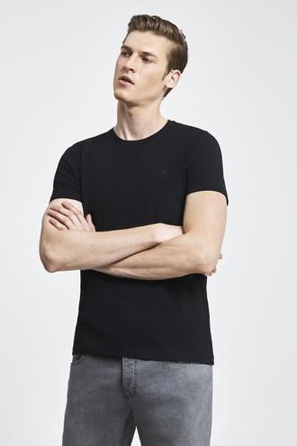 Tween Siyah Baskılı T-shirt - 8682364807284 | Damat Tween