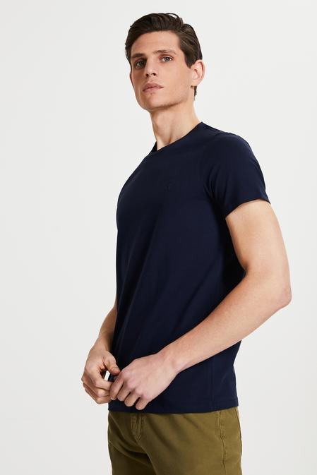 Tween Lacivert Baskılı T-shirt - 8682364807321 | Damat Tween