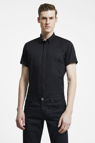 Tween Slim Fit Siyah Düz Gömlek - 8681649870241 | Damat Tween