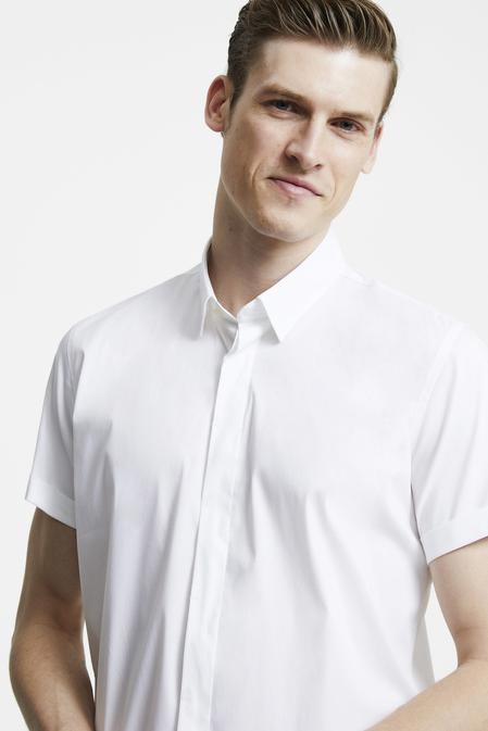 Tween Slim Fit Beyaz Düz Gömlek - 8681649870364 | Damat Tween