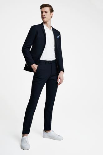 Tween Slim Fit Lacivert Desenli Takım Elbise - 8681649874317   D'S Damat