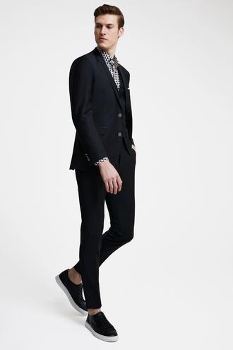 Tween Slim Fit Siyah Yelekli Takım Elbise - 8682364420384   Damat Tween