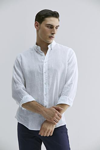 Damat Comfort Beyaz Düz Gömlek - 8681649907343 | Damat Tween