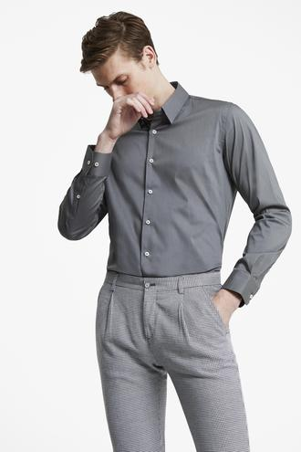 Tween Slim Fit Gri Düz Gömlek - 8682364659135 | Damat Tween