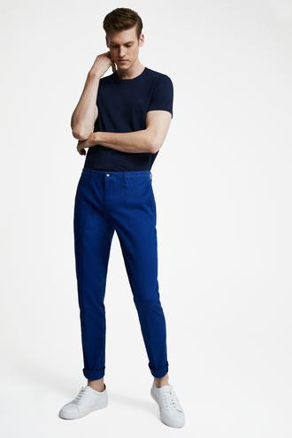 Tween Slim Fit İndigo Chino Pantolon - 8681649986379 | Damat Tween