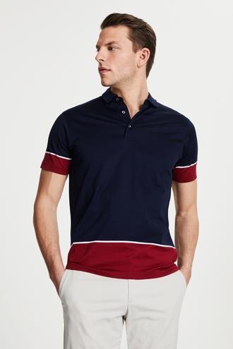 Damat Lacivert 60/2 Merserize T-shirt - 8681649994930 | Damat Tween