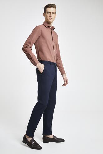 Damat Slim Fit Lacivert Chino Pantolon - 8682364484461   Damat Tween