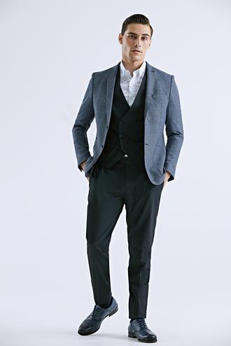 Tween Slim Fit Lacivert Yelekli Takım Elbise - 8682364832408 | Damat Tween