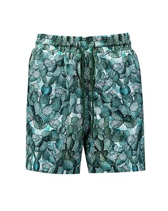 Tween Regular Fit Yeşil Desenli Şort Mayo - 8681649180579 | Damat Tween