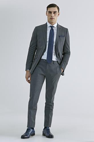 Tween Slim Fit Gri Düz Takım Elbise - 8682364808793 | Damat Tween