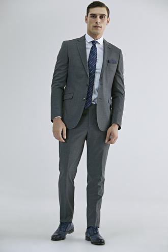 Tween Slim Fit Gri Düz Takım Elbise - 8682364720491 | Damat Tween