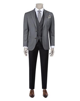 Damat Regular Fit Antrasit Kombinli Takım Elbise - 8681649041849 | D'S Damat