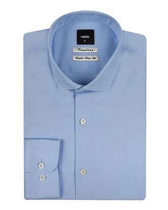 Tween Slim Fit Mavi Düz Gömlek - 8681142953250 | Damat Tween