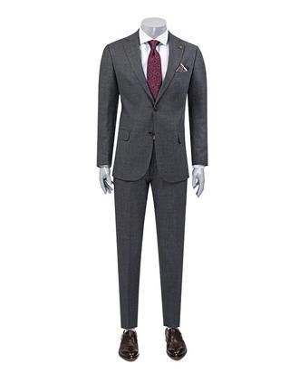 Damat Regular Fit Antrasit Desenli Takım Elbise - 8681649263210 | D'S Damat