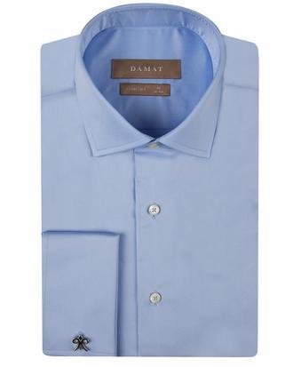 Damat Comfort Mavi Düz Gömlek - 8681649383215 | Damat Tween
