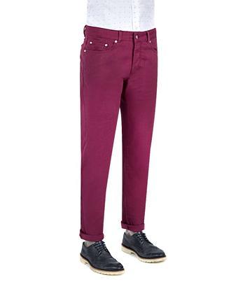 Damat Slim Fit Mürdüm Denim Pantolon - 8681649761167 | D'S Damat