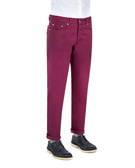 Damat Slim Fit Mürdüm Denim Pantolon - 8681649761167   D'S Damat