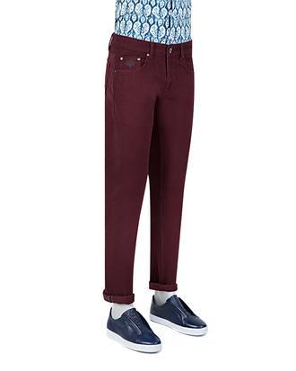 Tween Super Slim Fit Mürdüm Desenli Chino Pantolon - 8681142865553   D'S Damat