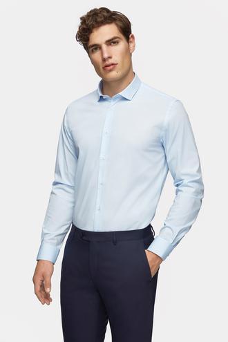 Tween Slim Fit Mavi Düz Gömlek - 8682364568864 | Damat Tween