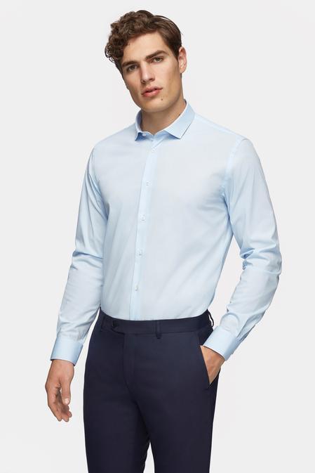 Tween Slim Fit Mavi Düz Gömlek - 8682364568864   Damat Tween