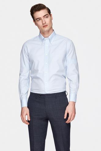 Damat Comfort Mavi Çizgili Gömlek - 8681649822042 | Damat Tween