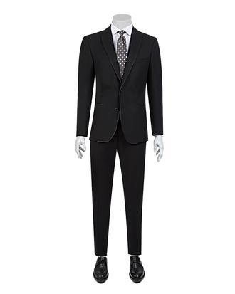 Tween Slim Fit Siyah Düz Takım Elbise - 8681649622949 | D'S Damat