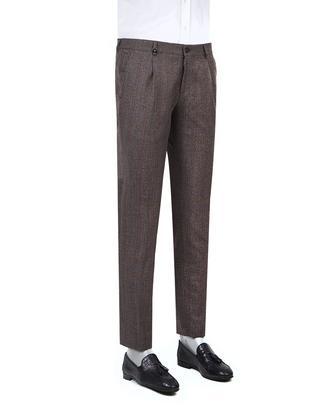 Tween Slim Fit Bordo Kareli Kumaş Pantolon - 8681649246664 | D'S Damat