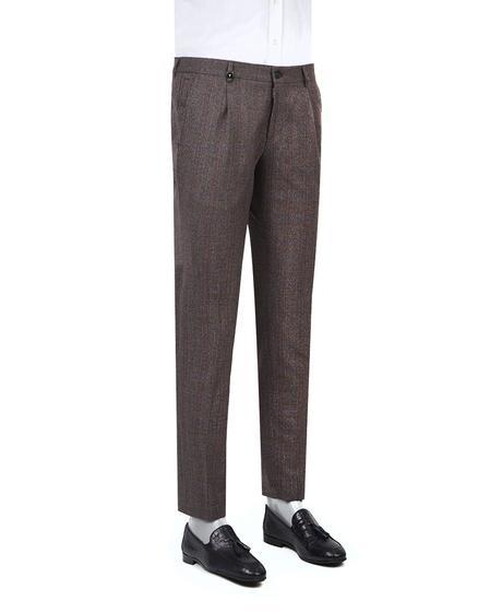 Tween Slim Fit Bordo Kareli Kumaş Pantolon - 8681649246664   D'S Damat