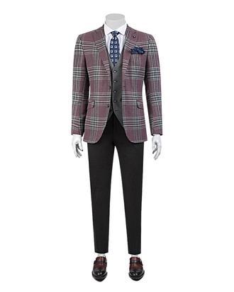 Tween Slim Fit Bordo Kombinli Takım Elbise - 8681649301370 | D'S Damat