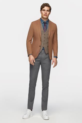 Tween Slim Fit Camel Düz Kombinli Takım Elbise - 8681649828914 | Damat Tween