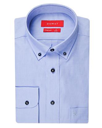 Damat Comfort Mavi Düz Gömlek - 8681649586838 | Damat Tween