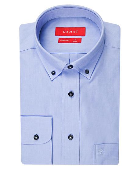 Damat Comfort Mavi Düz Easy Care Gömlek - 8681649586838 | Damat Tween