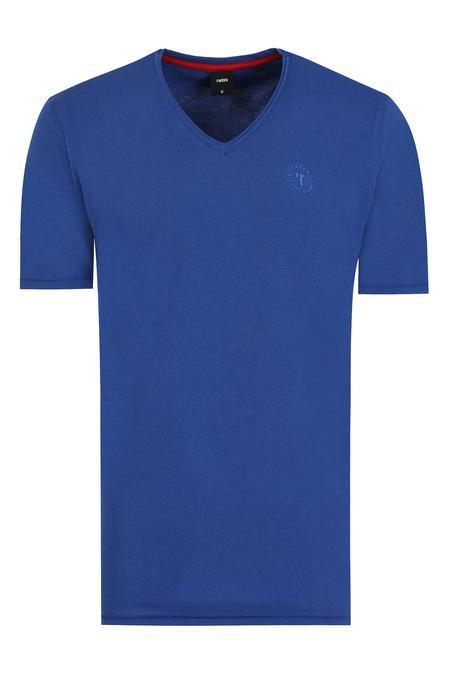 Tween Saks Mavi Baskılı T-shirt - 8681649431633   Damat Tween