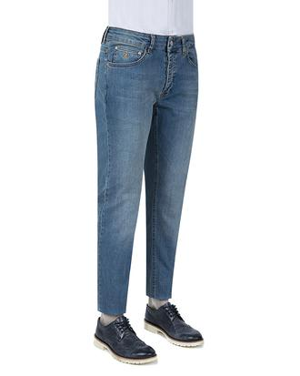 Damat Slim Fit İndigo Denim Pantolon - 8681649361954 | D'S Damat